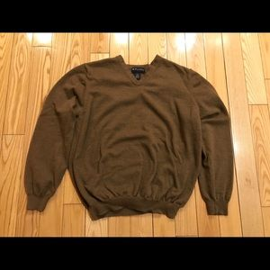 Brooks brothers Merino wool v neck sweater Xl
